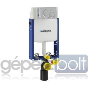 Geberit Kombifix WC szerelőelem fali WC részére UP320 öblítőtartállyal, ECO, magasfényű krómozott Samba nyomólappal