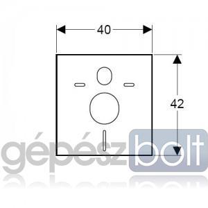 Geberit Kombifix Hangcsillapító készlet fali WC és bidé számára
