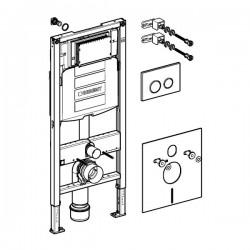 Geberit Duofix WC szerelőelem fali WC részére, UP320 öblítőtartállyal, Sigma20 nyomólappal