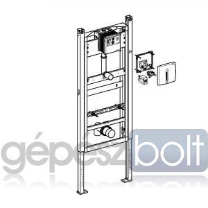 Geberit DuofixBasic Vizelde szerelőelem Hytronic vizeldevezérléssel, hálózati, matt króm színben