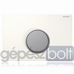 Geberit Sigma10 nyomólap, fehér / matt króm / matt króm színben