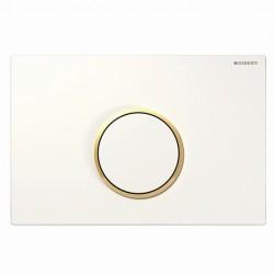 Geberit Sigma10 nyomólap, fehér / aranyozott / fehér színben