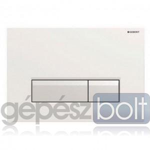 Geberit Sigma40 nyomólap, ventilátorral fehér / fényezett alumínium színben