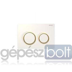 Geberit Kappa 21 nyomólap, fehér / aranyozott / fehér színben
