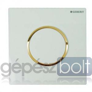 Geberit HyTouch pneumatikus vizelde vezérlés, Sigma10 dizájn fehér / aranyozott / fehér színben