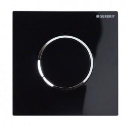 Geberit HyTouch pneumatikus vizelde vezérlés, Sigma10 dizájn fekete / fényes króm / fekete színben