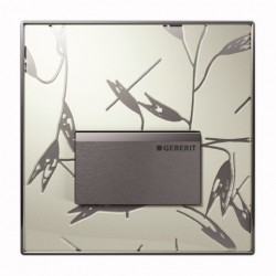 Geberit HyTouch pneumatikus vizelde vezérlés, Sigma50 dizájn szatén színben