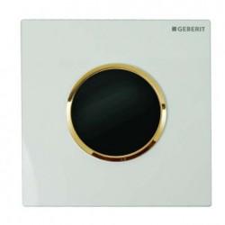 Geberit HyTronic automata vizelde vezérlés, infravörös, hálózati, Sigma10 dizájn fehér / aranyozott / fehér színben