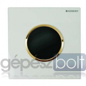 Geberit HyTronic automata vizelde vezérlés, infravörös, elemes, Sigma10 dizájn fehér / aranyozott / fehér színben