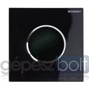 Geberit HyTronic automata vizelde vezérlés, infravörös, elemes, Sigma10 dizájn fekete / fényes króm / fekete színben