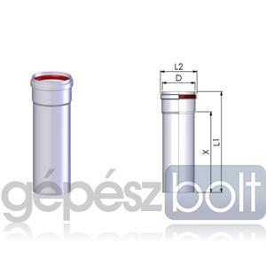 Tricox Alu cső 80mm hossz 1000mm fehér