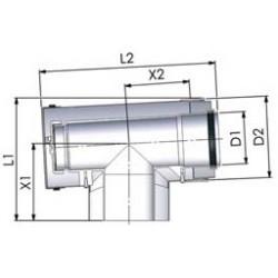 Tricox PPs/Alu ellenőrző T-idom 60/100mm