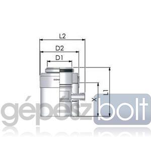Tricox PPs/Alu kondenzátum leválasztó 60/100mm