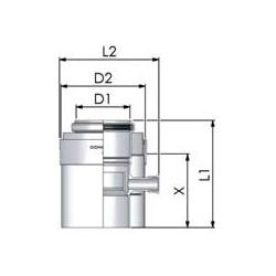 Tricox PPs/Alu kondenzátum leválasztó 80/125mm