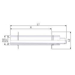 Tricox PPs/Alu parapet 110/160mm 2db takaró lemezzel