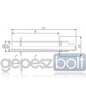 Tricox PPs/Alu parapet 80/125mm 2db takaró lemezzel