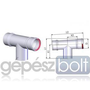 Tricox PPs ellenőrző T-idom 160mm