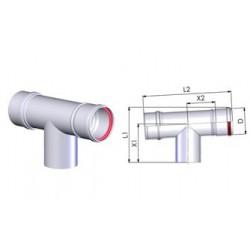 Tricox PPs ellenőrző T-idom 200mm