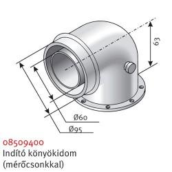 Saunier Duval SDH 60/100 mérőhelyes indító könyökidom