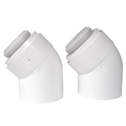 Tricox PPs/Alu könyök 80/125mm 45° (2db)