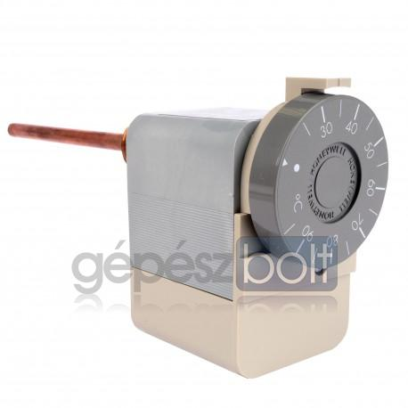 Honeywell Aquastat Merülő termosztát, külső gomb: 25-95°C, belső csavarral állítható hiszterézis 4-10K, SPDT 10(2,5)A