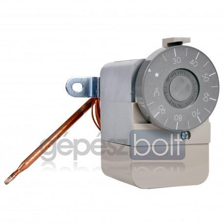 Honeywell Aquastat Kapilláris termosztát, külső gomb: 25-95°C, belső csavarral állítható hiszterézis 4-10K, SPDT 10(2,5)A