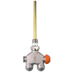 HERZ-VUA-40 négyjáratú termosztatikus szelep egycsöves üzemre, egyenes