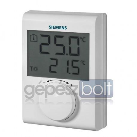 Siemens RDH100 elemes szobatermosztát LCD kijelzővel