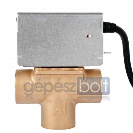 """Honeywell 2-utú motoros váltószelep, segédkapcsolóval, 1"""", belső menet,  5-88°C, max 8,6bar, (kvs 8,1)"""