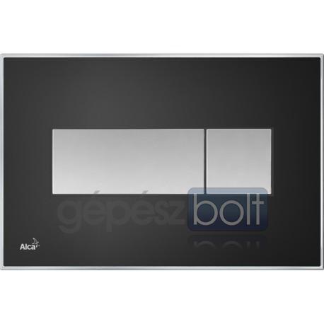 78bbb774af Alcaplast M1374 Fekete nyomólap akrilüveg berakással - GépészBolt