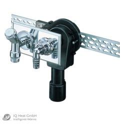 """Haas OHA 4060 falsik alatti szifon háztartási gépekhez, vízszintes szereléshez DN 40/50 1/2""""-os töltőszeleppel"""