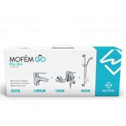 Mofém GO PRO szett: mosdó csaptelep + kádtöltő csaptelep + zuhanyszett
