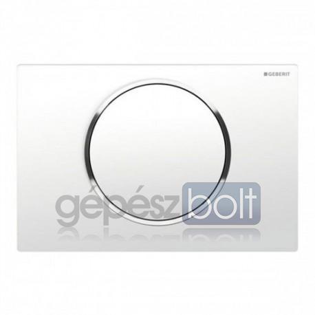 Geberit Sigma10 nyomólap, fehér / fényes króm / fehér színben