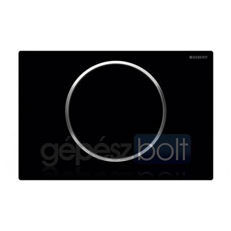 Geberit Sigma10 nyomólap, fekete / fényes króm / fekete színben