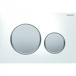 Geberit Sigma20 nyomólap, fehér / matt króm / matt króm színben
