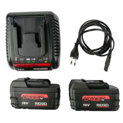 RIDGID 2 Akkumulátor (2x4Ah) és töltő készlet