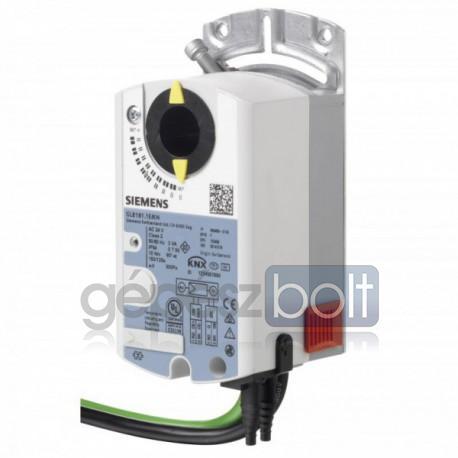 Siemens GLB181.1E/KN VAV kompakt szabályozó és zsalumozgató KNX kommunikációval, AC 24 V, 10 Nm, 150 s, 300 Pa