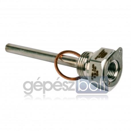 """Siemens WZT-S100 G ½ B"""" védőcső rozsdamentes acélból, G ¼"""" menetes furattal, 100 mm benyúlási hosszal, G ½"""" réz tömítéssel"""
