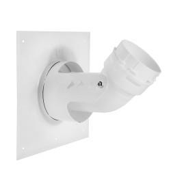 Flexibilis rendszer bekötőkönyök, takaró lemezzel 80/125 - 80 mm