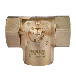 Siemens VBI61.50-63 Kétutú szabályozó golyóscsap PN40 DN50 Kvs 63 m3/h egyenszázalékos-lineáris szelep