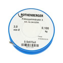 Rothenberger Forrasztó ón 100 g, 3 mm, S- Sn97Cu3