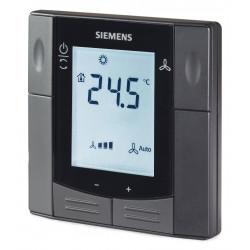 Siemens RDF600KN/VB Univerzális fűtő/hűtő termosztát süllyesztett fekete kivitel KNX kommunikációval