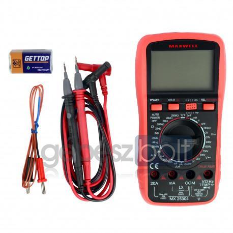 Maxwell MX-25 304 Digitális multiméter induktivitás méréssel