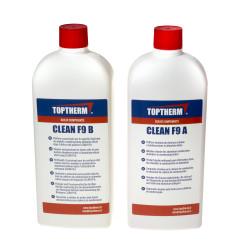 Toptherm CLEAN F9 A és B tisztító folyadék alumínium hőcserélőkhöz 2 x 1 liter + 2 db szórófej