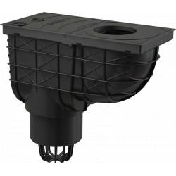 Alcaplast univerzális esővíz elvezető 300 × 155/110 mm, függőleges, fekete